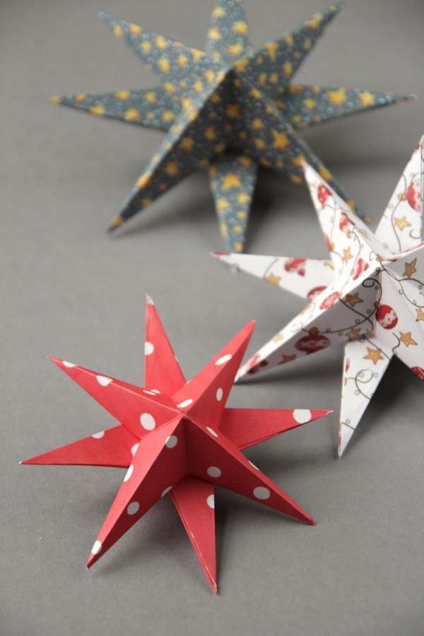 origami Noël flocon étoiles-flocons