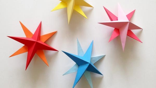 origami Noël flocon figures en 3D
