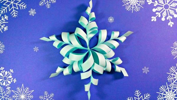 origami Noël flocon jolie décoration