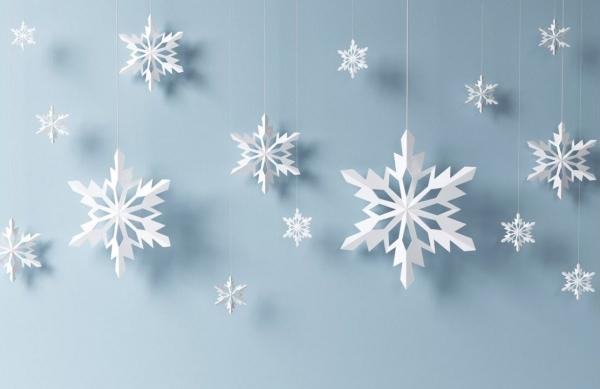 origami Noël flocon pour décorer le mur