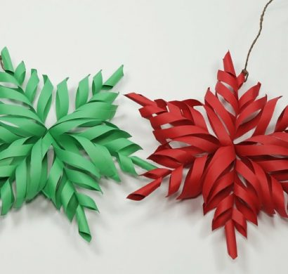 origami noël flocon