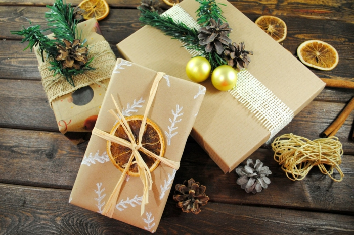papier cadeau kraft déco cadeau