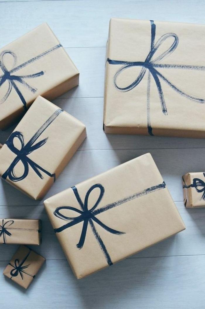 papier cadeau kraft emballage facile