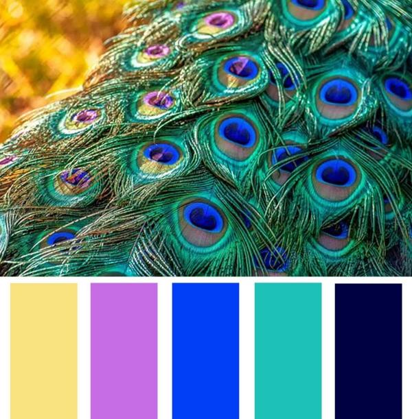 peinture bleu paon la riche palette