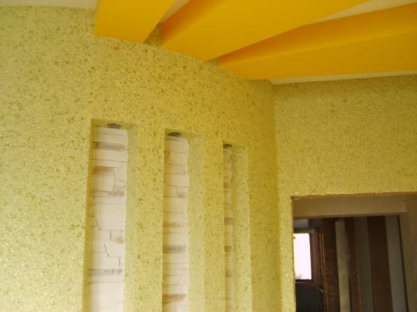 peinture pailletée variante en jaune