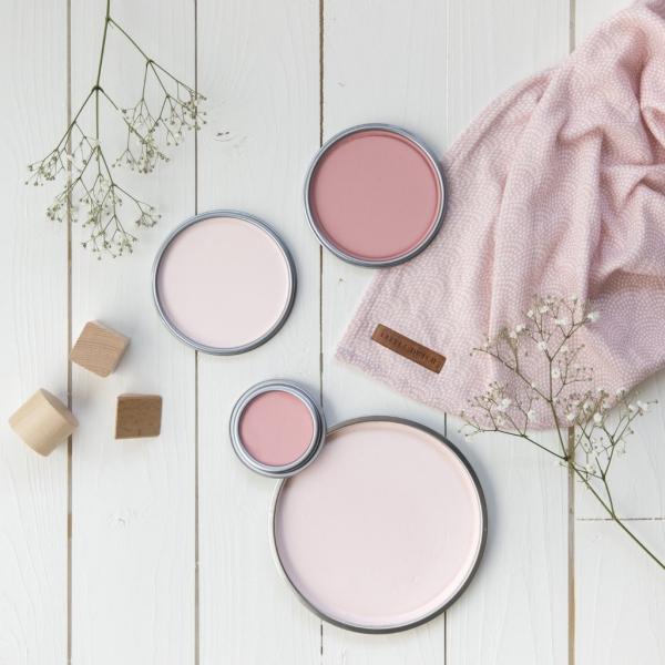 peinture rose poudré décoration insolite