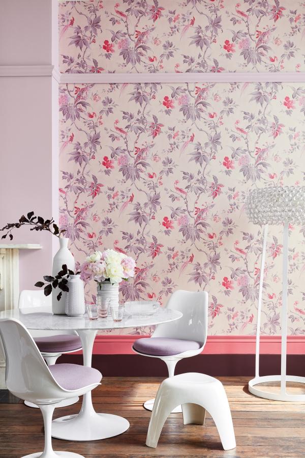 peinture rose poudré un joli fond d'écran