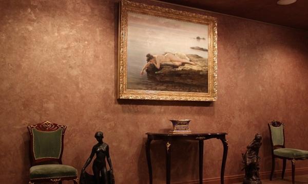 peinture sablée ambiance aristocratique