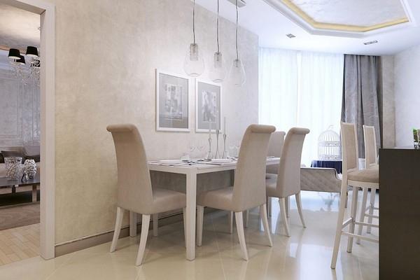 peinture sablée salle à manger et salon