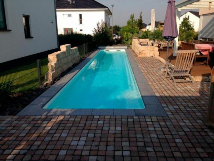 piscine coque rectangulaire Mon de Pra Piscines Coque MdP Lane