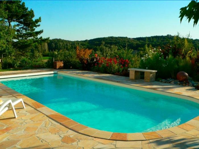 piscine coque rectangulaire Mon de Pra Piscines volet roulant Mdp Cover