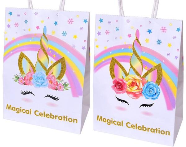 pochette cadeau licorne dessins magnifiques