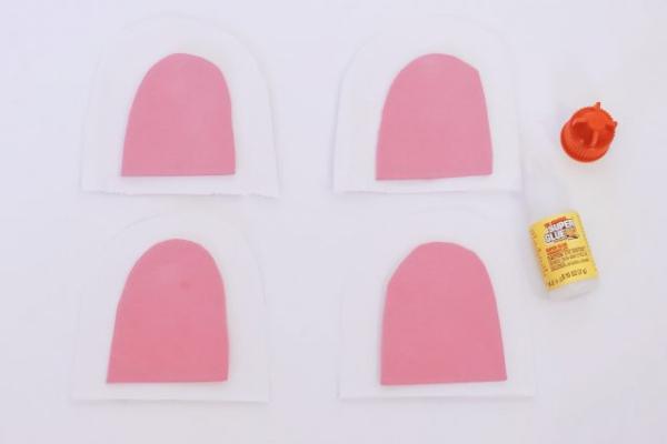 pochette cadeau licorne partie blanche et partie rose