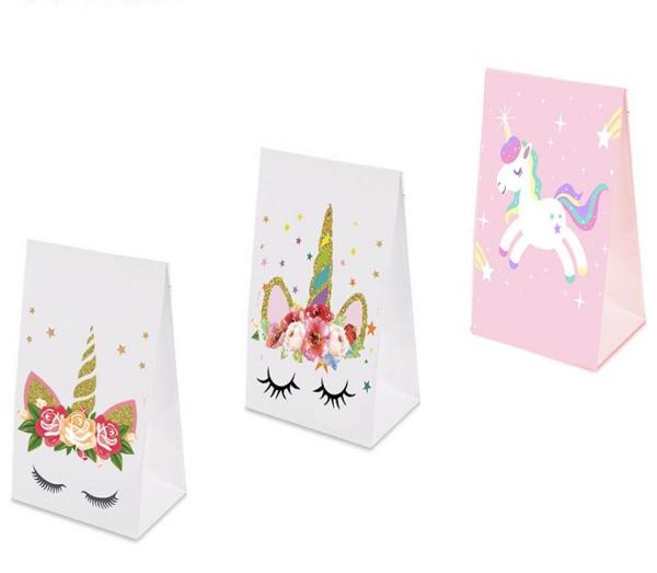 pochette cadeau licorne trois variantes