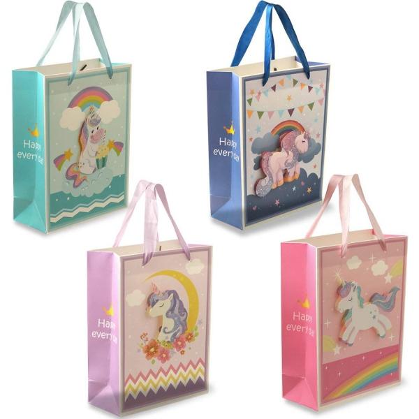 pochette cadeau licorne vendues aux magasins