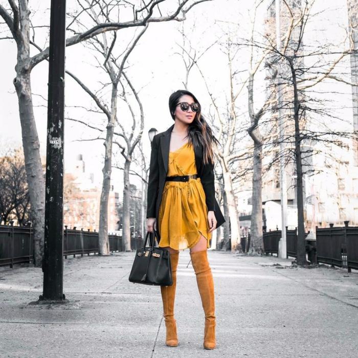 proposition comment porter des cuissardes avec une robe