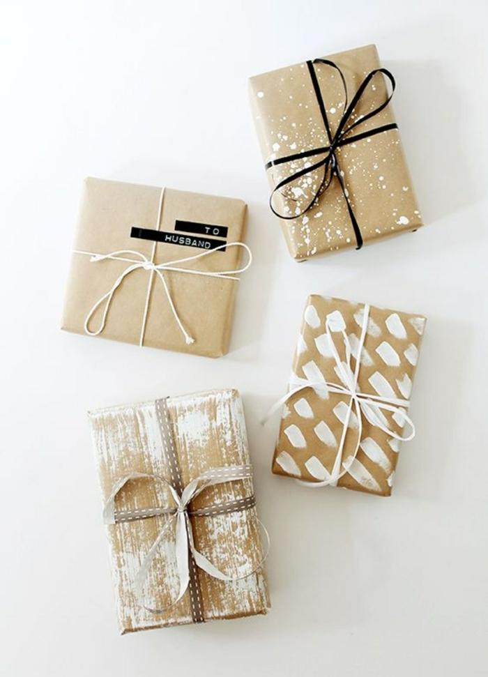 propositions pour noël papier cadeau kraft