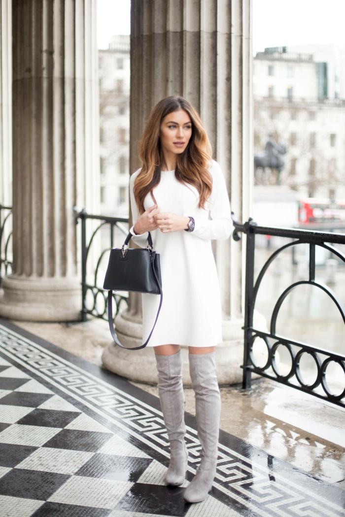 pull blanc idée comment porter des cuissardes