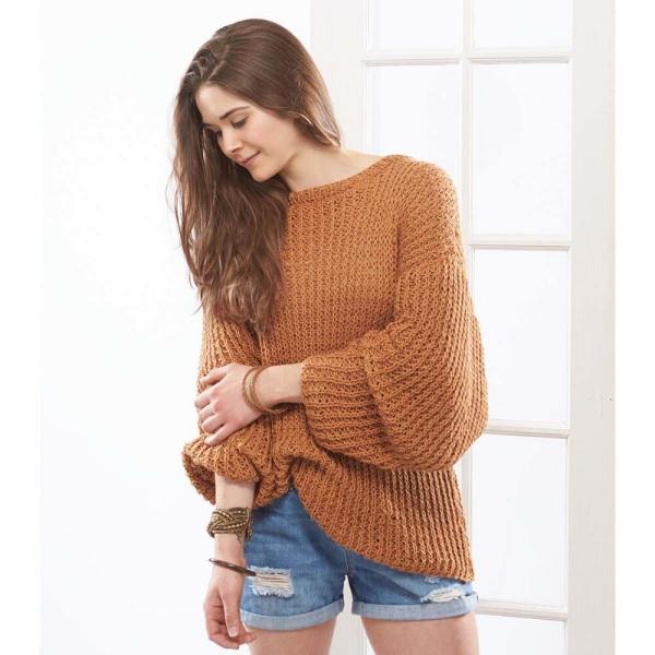 pull oversize de couleur brune