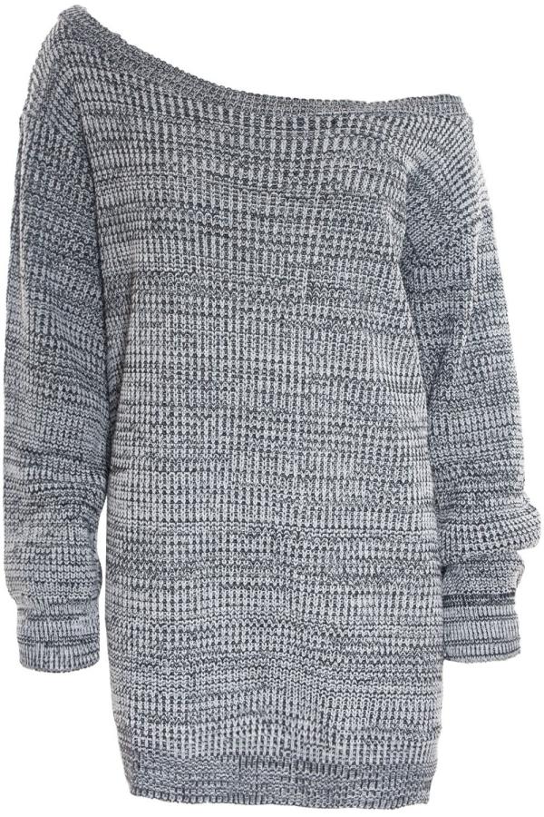 pull oversize en couleur grise