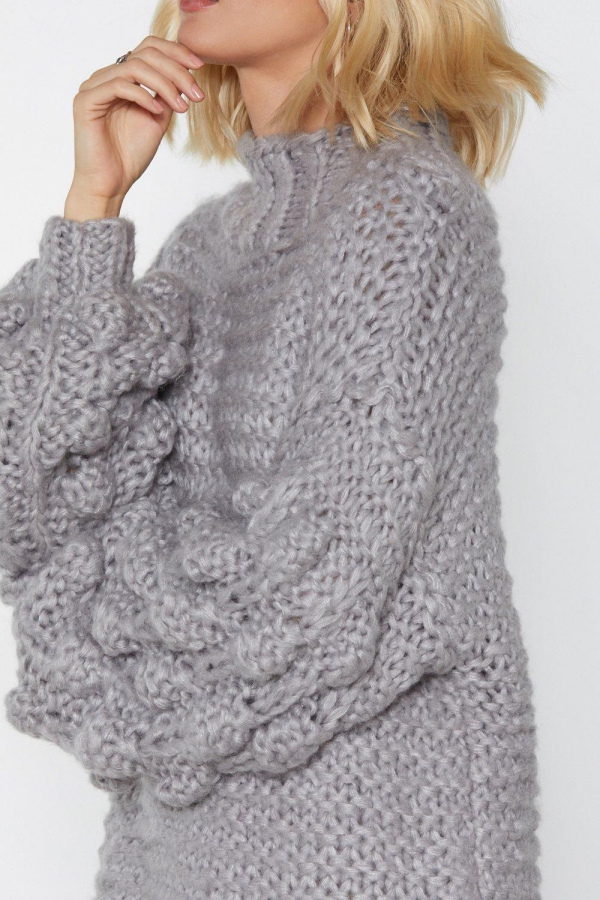 pull oversize pull aux mailles larges