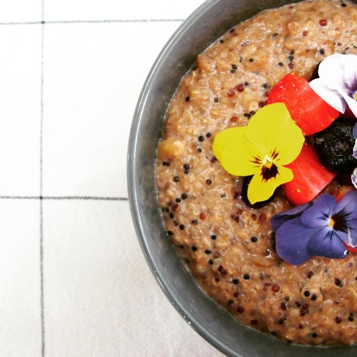 recette porridge au quinoa et graines de chia