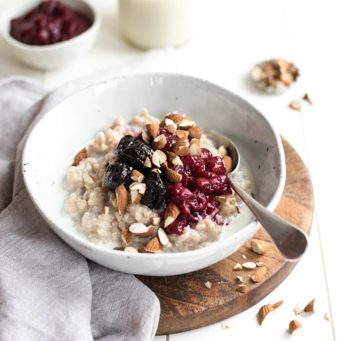 recette porridge au riz brun et noix