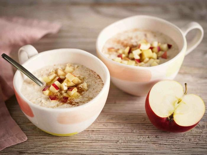 recette porridge aux pommes