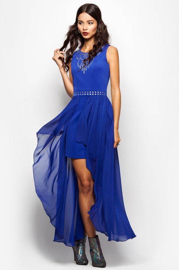 robe Nouvel An bleu encre
