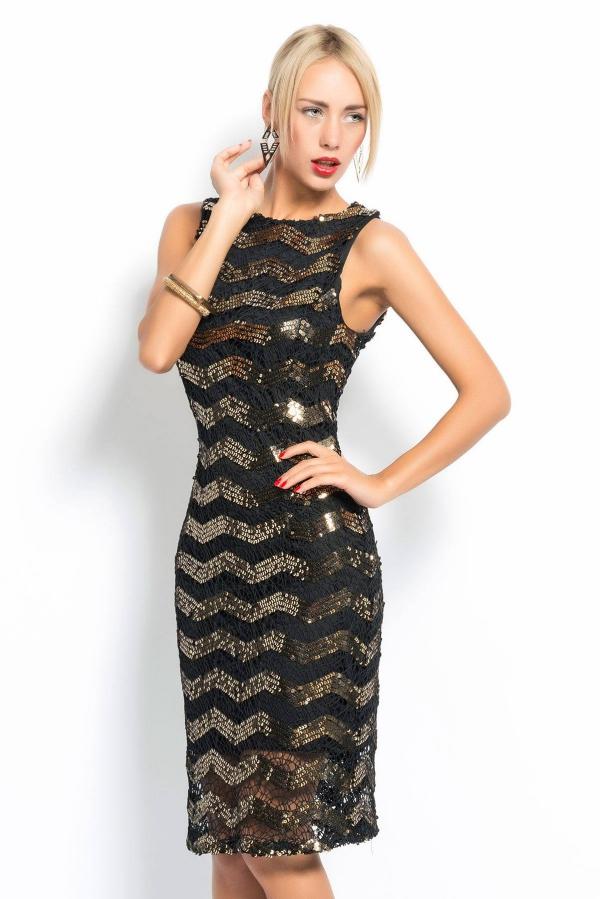 robe Nouvel An dentelle superposée