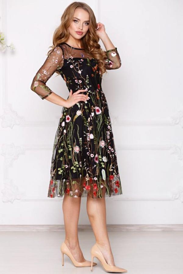 robe Nouvel An motifs floraux