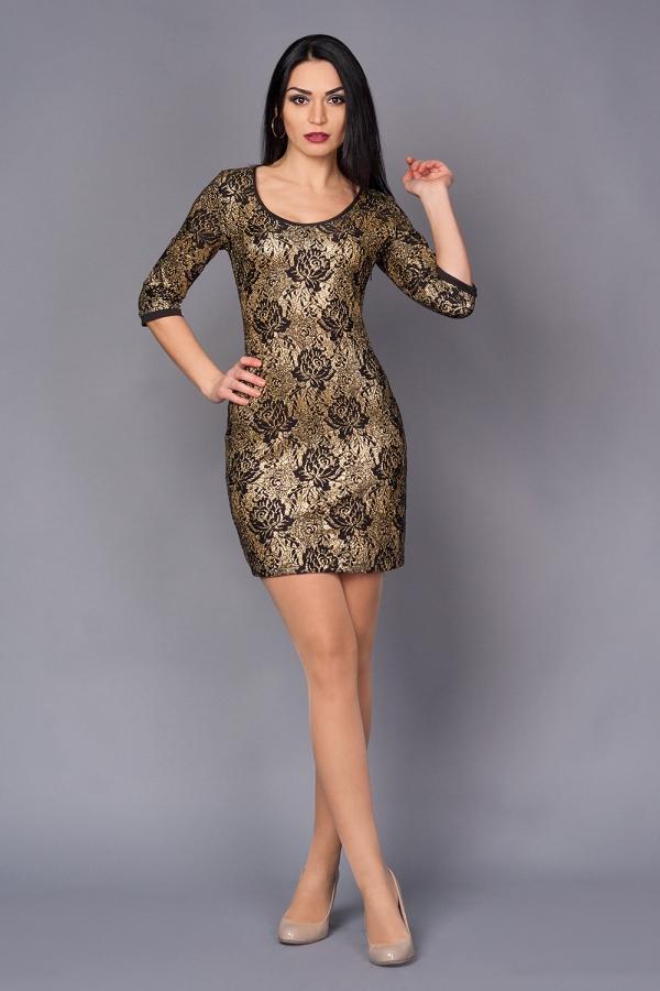 robe Nouvel An nuances dorées