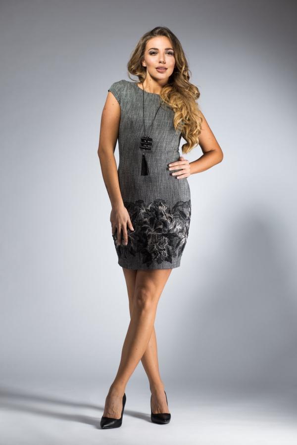 robe Nouvel An petite robe en gris