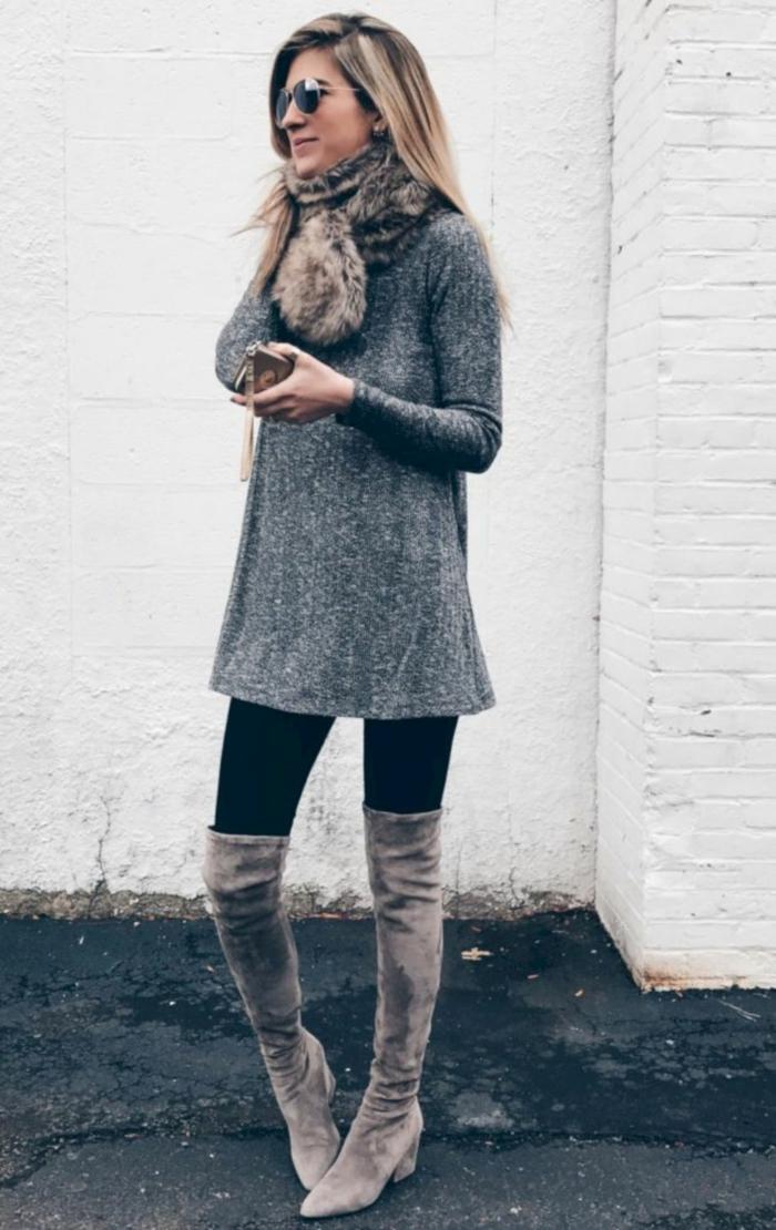 robe pull idée comment porter des cuissardes