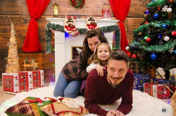 séance photo famille humoristique noël