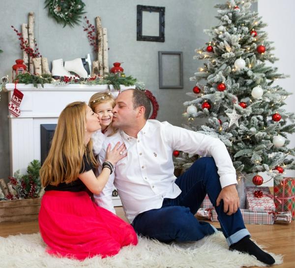 séance photo famille noël cheminée