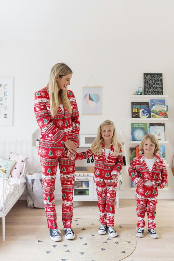 séance photo famille noël maman filles