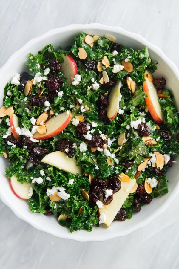 salade d' hiver amandes tranchées