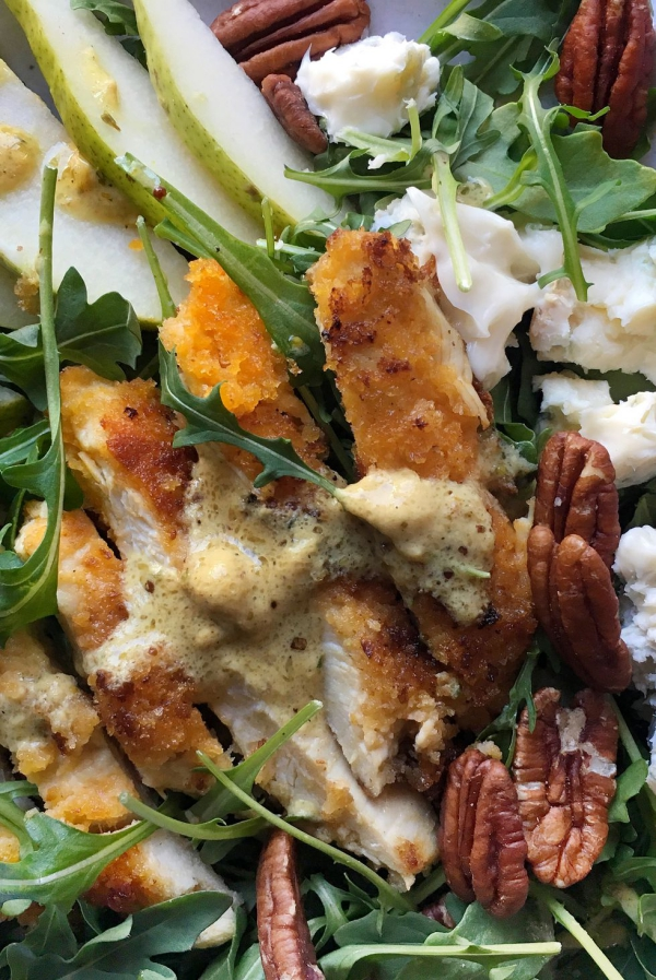 salade d' hiver du poulet
