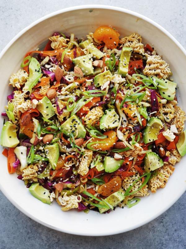 salade d' hiver pâtes délicieuses
