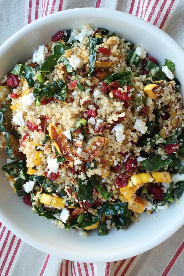 salade d' hiver quinoa et citrouille rôtie