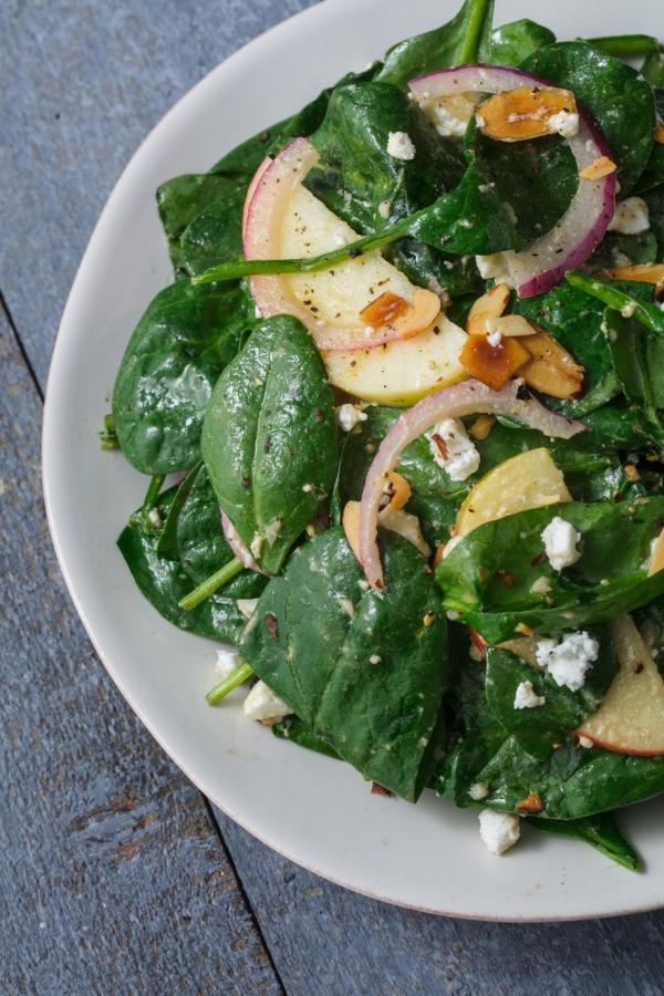 salade d' hiver salade aux épinards