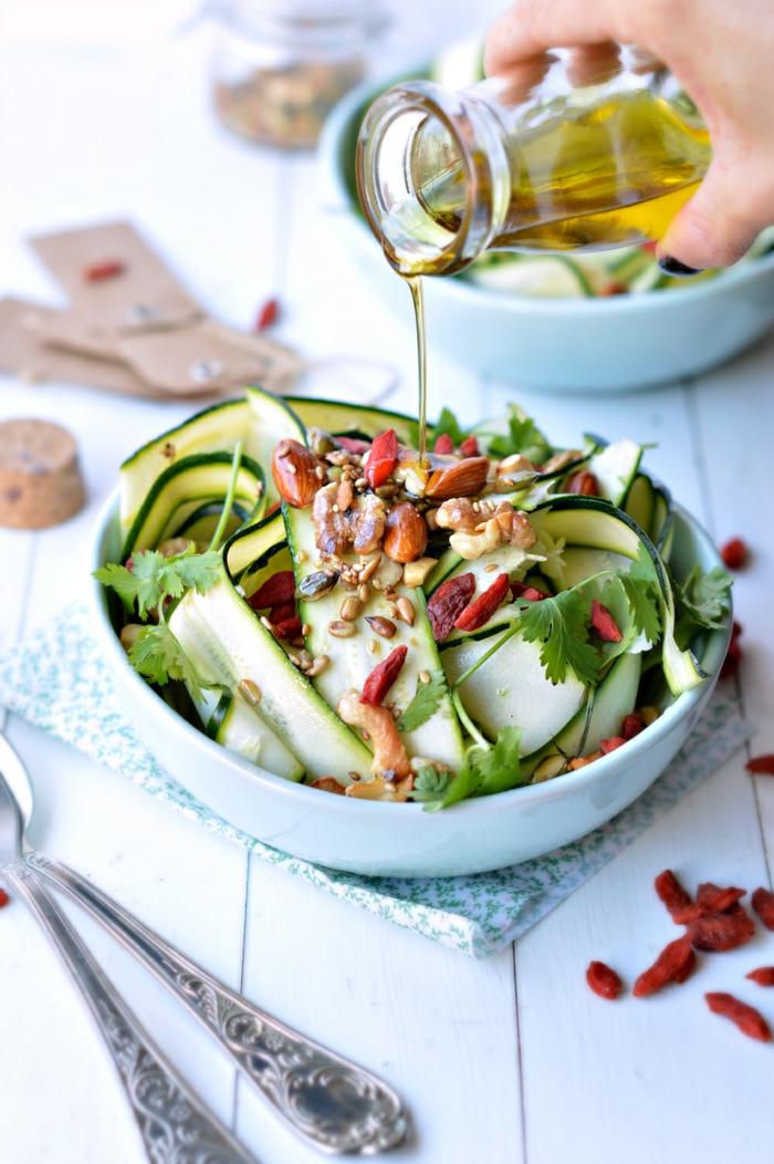 salade saine recette avec baie de goji