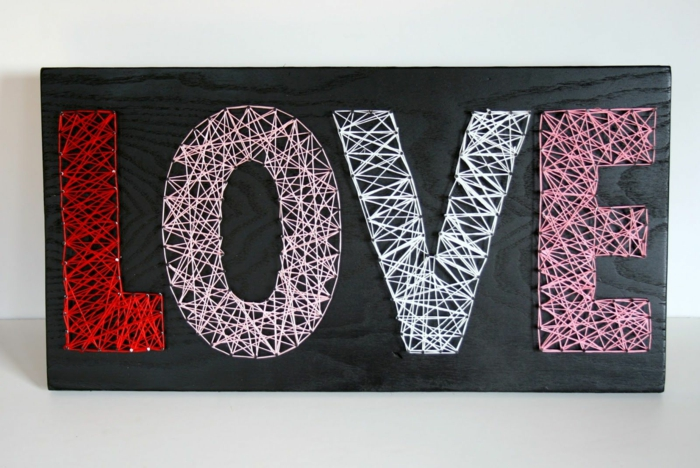 string art love idée saint valentin 2019