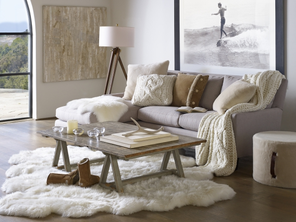 tapis fausse fourrure blanc ambiance cocooning