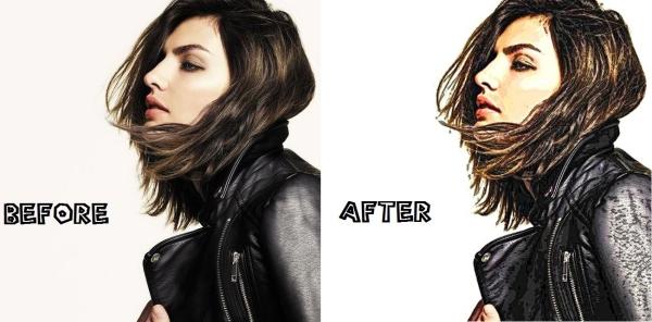 transformer photo en dessin animé before et after