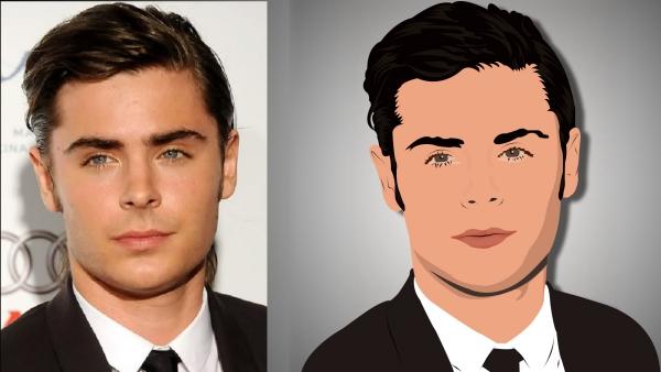 transformer photo en dessin animé jolie transformation
