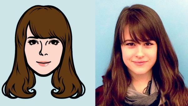transformer photo en dessin animé la forme du visage