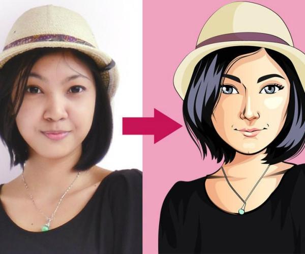 transformer photo en dessin animé quelle coiffure