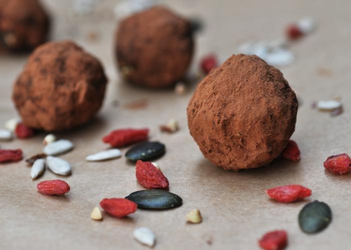 truffes à la baie de goji